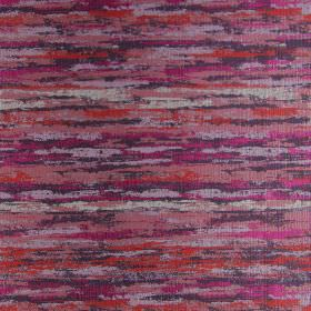 Fame - Magenta - Fabric with modern brown and magenta red brushstrokes