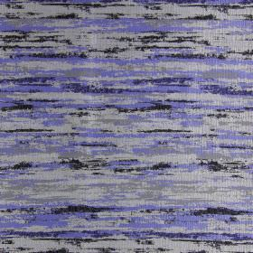 Fame - Electric - Fabric with modern grey and electric blue brushstrokes
