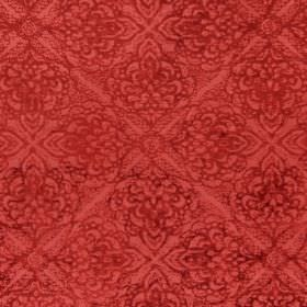 Samba - Tabasco - A repeated design in dark red printed on a background of slightly lighter red coloured fabric