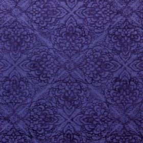 Samba - Indigo - Two different shades of dark blue making up this swatch of fabric with its subtle, repeated pattern