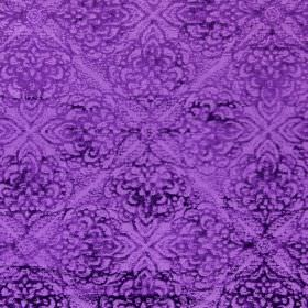Samba - Grape - Dark purple patterns printed repeatedly and subtly over fabric in a slightly lighter shade of purple