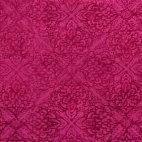 Samba - Fuchsia - Fuschia coloured fabric printed with a subtle repeated pattern in purple