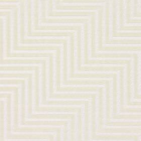 Zahara - Limestone - Parallel off-white and white zigzagging lines making up the repeated pattern for this cotton fabric