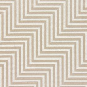 Zahara - Camel - Cotton fabric with a regular, even zigzag pattern in two very pale pink-grey shades
