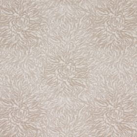 Esra - Camel - Beige cotton fabric with a busy but very subtle pattern in off-white