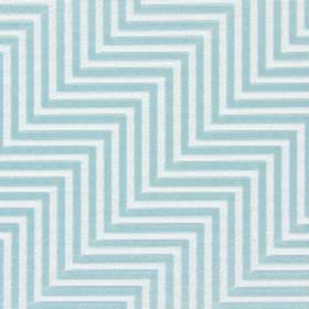 Zahara - Sky - Very light grey zigzags as an even, parallel, embroidered pattern on an ice blue cotton fabric background