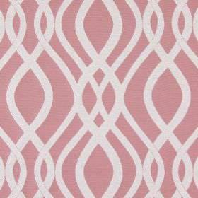 Amina - Dusk - Light, dusky pink and beige coloured cotton fabric, with a pattern of vertical lines which are wavy and overlapping