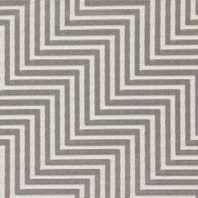 Zahara - Dove - Fabric made from cotton with a pattern of light brown and white zigzags