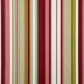 Henley - Peony - Fabric made from striped cotton in beige, dark red, olive green, pink, grey, orange and white