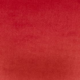 Velour - Cardinal - Fabric made from 100% polyester in a bright tomato red colour
