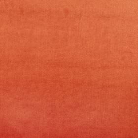 Velour - Tango - Fiery orange-red coloured fabric made from 100% polyester