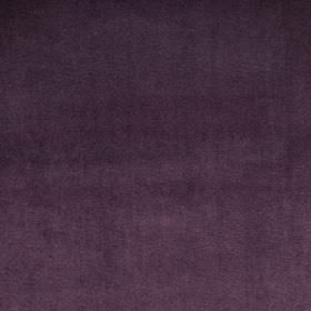 Velour - Grape - Luxurious deep purple coloured fabric made from 100% polyester
