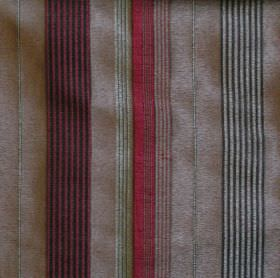 Laguna - Burgundy - Narrow and wide stripes of burgundy red, grey and black