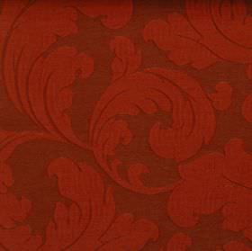 Gondola - Spice - Classic foliage pattern in in spice red