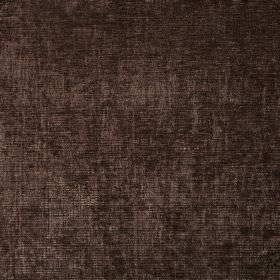 Rioja - Walnut - Dark brown coloured 100% polyester fabric featuring a few threads in a slightly lighter shade