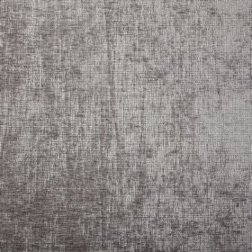 Rioja - Granite - Pewter coloured 100% polyester fabric which appears slightly patchy due to a subtle texture