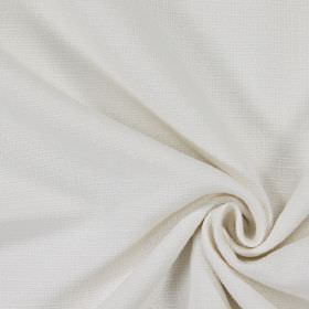 Ash - Alabaster - Plain alabaster white woven fabric
