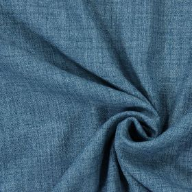 Pine - Azure - Plain azure blue fabric