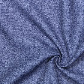 Pine - Indigo - Plain indigo blue fabric