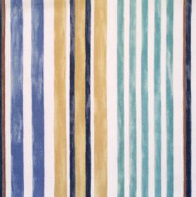Truro - Duck Egg - Duck egg blue striped fabric