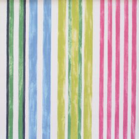 Truro - Vintage - Vintage green striped fabric