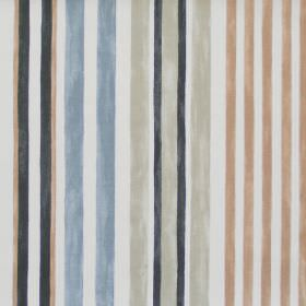 Truro - Driftwood - Driftwood brown striped fabric