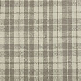 Ambleside - Granite - Light grey checked linen and cotton blend fabric