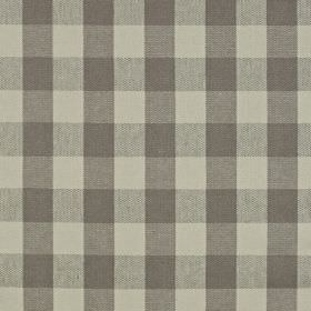 Grasmere - Granite - Light grey and battleship grey coloured checked linen and cotton blend fabric