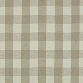 Grasmere - Sandstone - A simple checked design on linen and cotton blend fabric in two different shades of grey