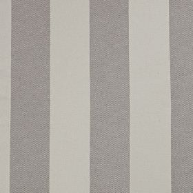 Kendal - Granite - Wide, simple block stripes running vertically down linen and cotton blend fabric in two different shades of grey
