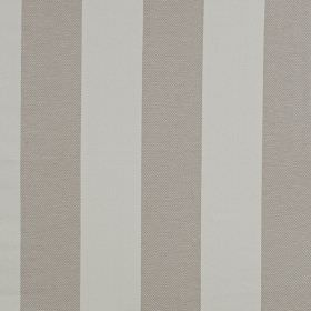 Kendal - Sandstone - Ash and dove grey coloured stripes on linen and cotton blend fabric, in a simple, wide, block design
