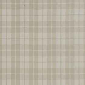 Ambleside - Natural - Fabric blended from linen and cotton with a very subtle checked design in two similar light shades of grey