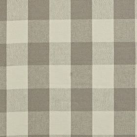 Keswick - Granite - Several different shades of steel grey making up a simple checked pattern on linen and cotton blend fabric