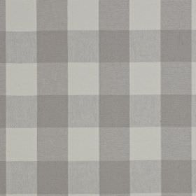 Keswick - Stone - Linen and cotton blend fabric made with a simple checked pattern in various light shades of grey