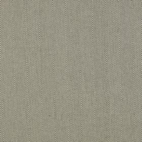 Lindale - Granite - Simple, subtle herringbone patterns covering linen and cotton blend fabric in grey