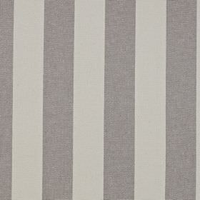 Scafell - Granite - Fabric made from pale and mid-grey striped linen and cotton