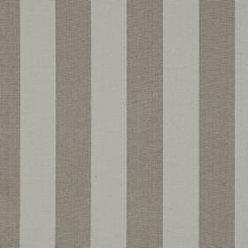 Scafell - Sandstone - Pale grey stripes alternating with iron grey stripes on fabric made from a combination of linen and cotton