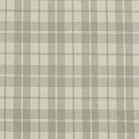 Ambleside - Stone - Linen and cotton blend fabric featuring a simple checked design in two similar light grey shades