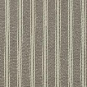 Coniston - Granite - Iron grey and pale grey-white coloured linen and cotton blend fabric featuring a simple vertical stripe design