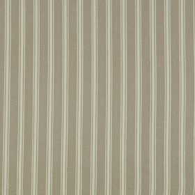 Coniston - Sandstone - Fabric made from linen and cotton in dove grey and cloud grey, featuring a simple vertical stripe pattern