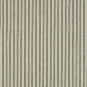 Fairfield - Granite - Linen and cotton blend fabric made with very simple vertical stripes alternating between cloud grey and iron grey