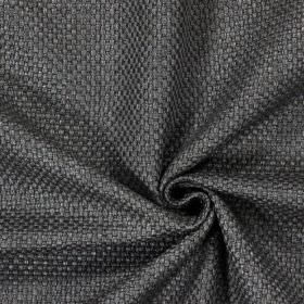 Bedale - Anthracite - Plain woven anthracite black fabric