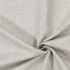Swaledale - Linen - Plain linen sandy fabric with a herringbone pattern