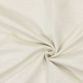 Swaledale - Parchment - Plain parchment white fabric with a herringbone pattern