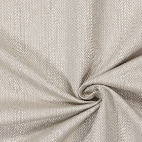 Swaledale - Flax - Plain flax sandy fabric with a herringbone pattern
