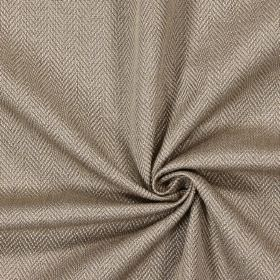 Swaledale - Hemp - Plain hemp brown fabric with a herringbone pattern