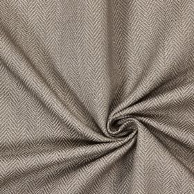 Swaledale - Pewter - Plain pewter grey fabric with a herringbone pattern