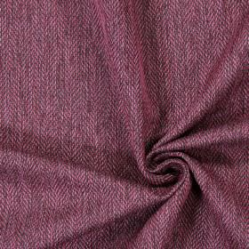 Swaledale - Mulberry - Plain mulberry purple fabric with a herringbone pattern