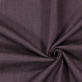 Swaledale - Grape - Plain grape purple fabric with a herringbone pattern