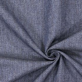 Swaledale - Denim - Plain denim blue fabric with a herringbone pattern